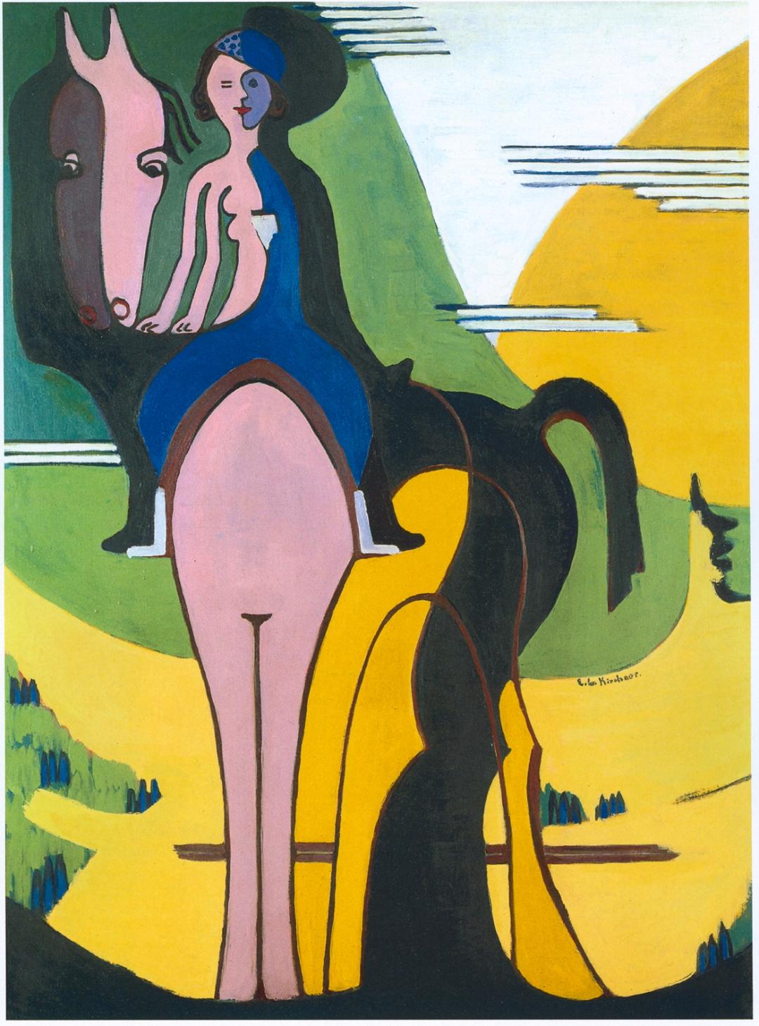 Ernst Ludwig Kirchner - Female Rider [1931-32]