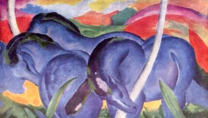 Franz Marc- Die großen blauen Pferde, The Large Blue Horses (1911)