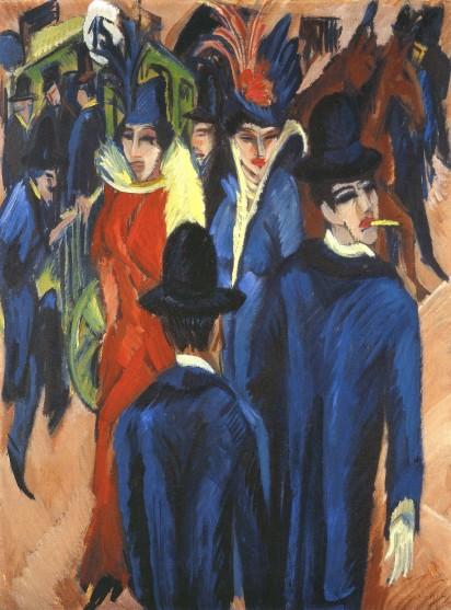 Ernst Ludwig Kirchner- Berlin Street Scene (1913)